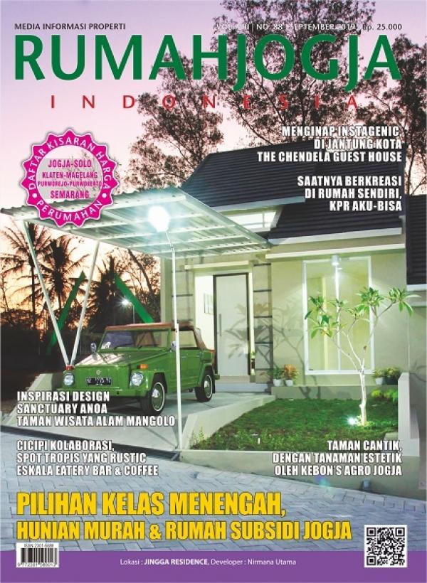 JINGGA RESIDENCE for RUMAH JOGJA INDONESIA cover edisi September 2019